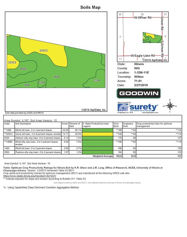 Soil map of Wilton Township 74 acres