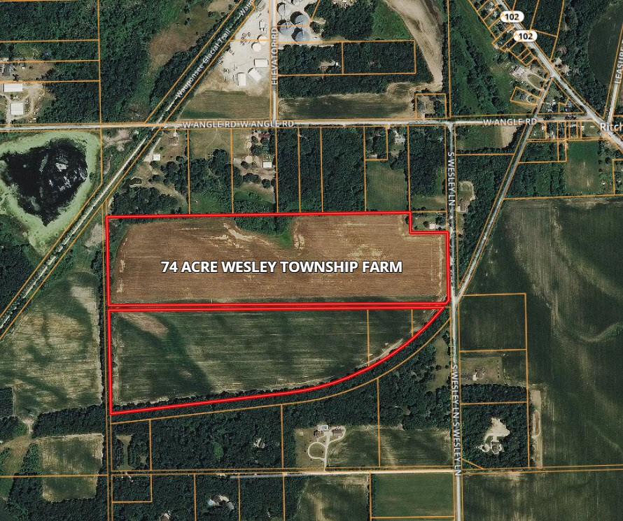 Aerial Map of 74 Acres Wesley Township, Will County