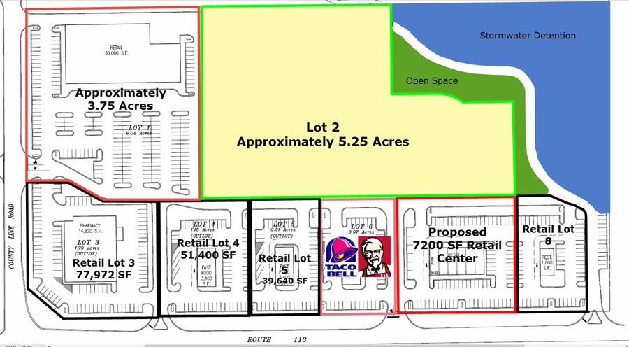 Diamond Point Commercial Center Concept Site Plan