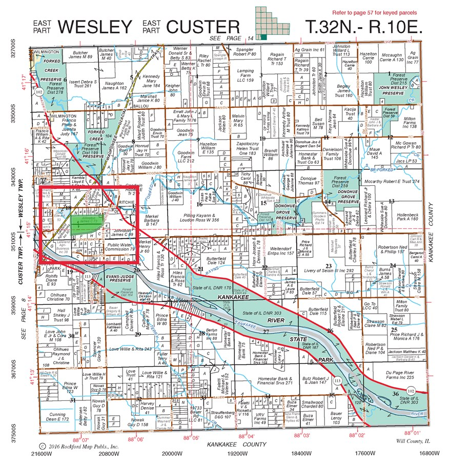 Plat Map of Wesley Township 74 Acres