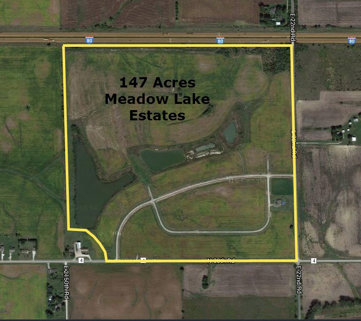 Aerial Map of Meadow Lake Estates Subdivision, Ottawa, Illinois