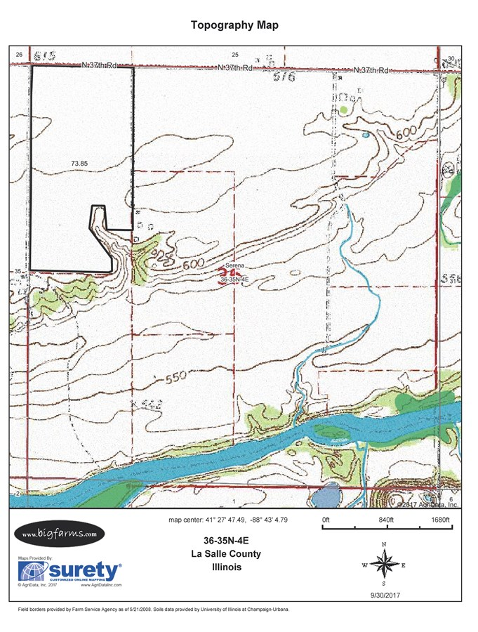 80 Acre Parcel 3 Topographical Map