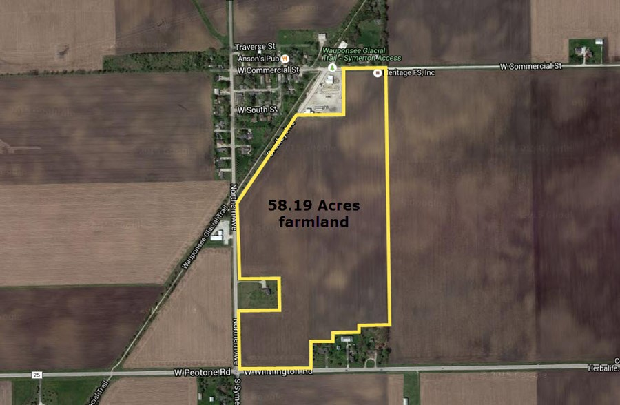 Aerial Map of 58 Acre Symerton Farm