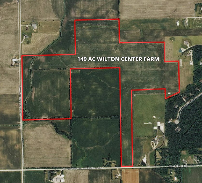 Aerial Map of Wilton Township 143 Acres
