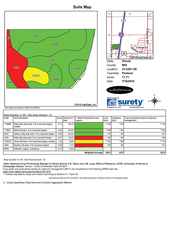 17 Ac Peotone Soil Map