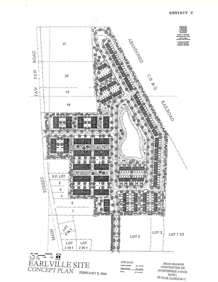 Site Plan for Settler's Grove in Earlville, IL