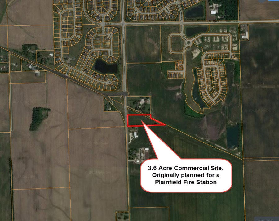Commercial site on Ridge road in Plainfield with 3.6 Acres