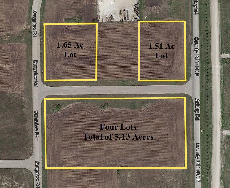 Lot Breakdown of Lots at the Ashley Road Industrial Park, Morris Illinois