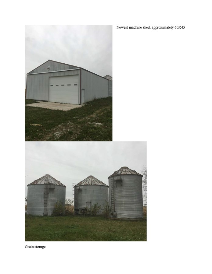 Machine Shed & Grain Storage on 25 Ac Manhattan Twp Farm