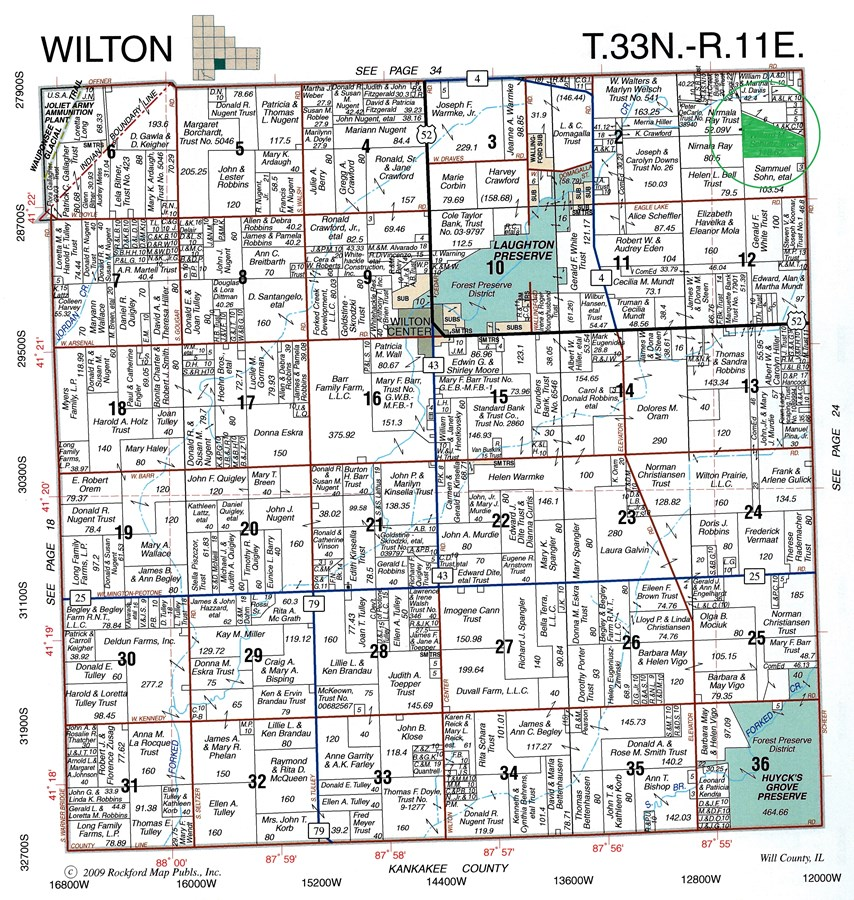 Plat Map of 74 acres Wilton Township