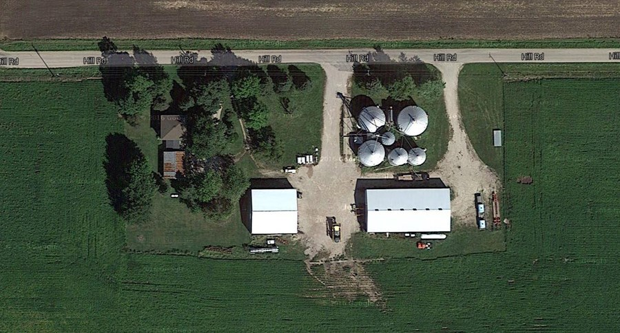 Aerial 1 10 acre Lisbon farmstead