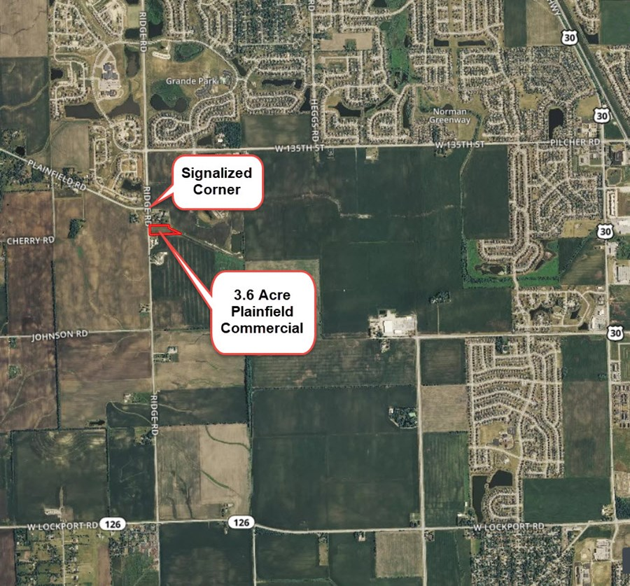 Aerial Map 3 of the Plainfield Commercial Site in Kendall County