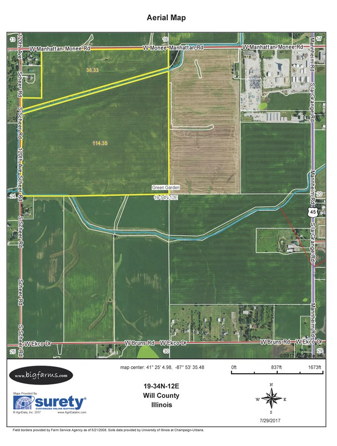 FSA Map of 152 acre Green Garden Township