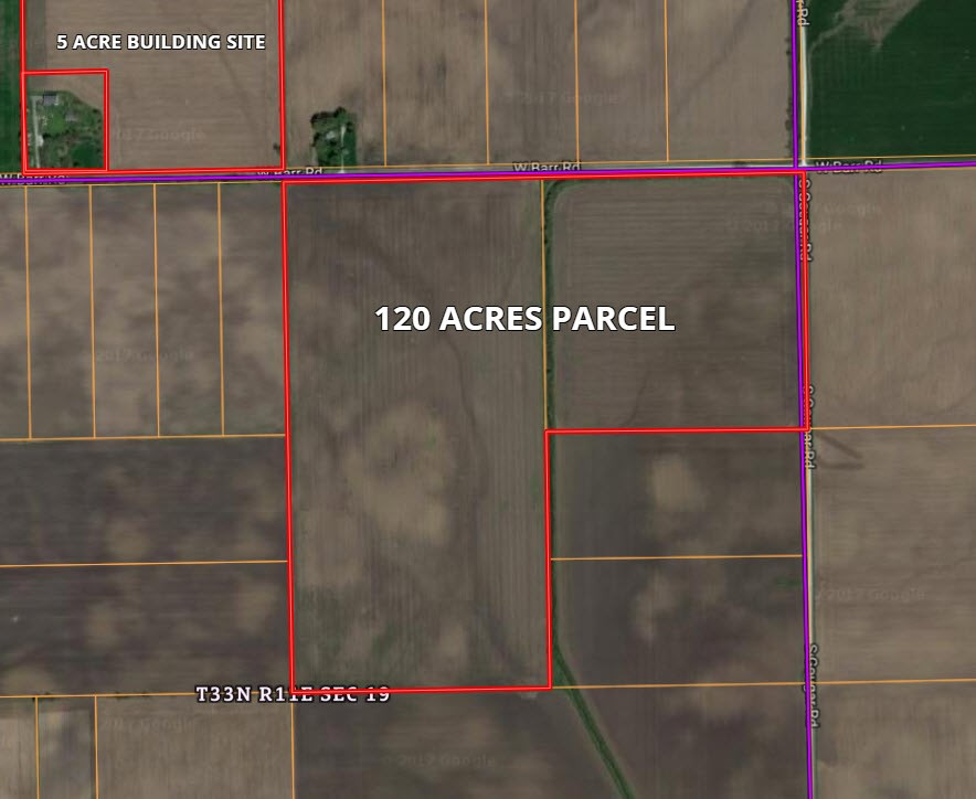 120 Acre Parcel 2 in Wilton Township, Will County