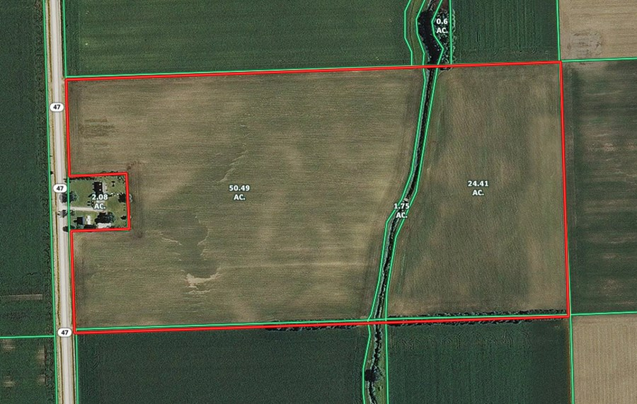 Aerial Map of 77 Ac Goodfarm Township, Grundy County