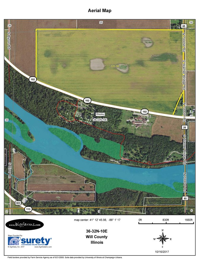 FSA Map of Wesley Township 225 Acres