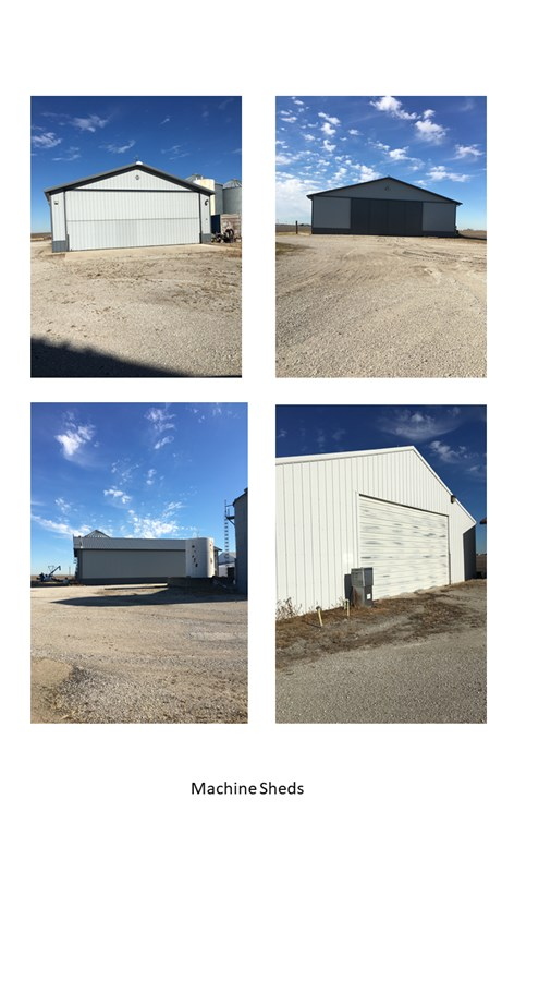 Storage buildings on the farm in LaSalle County
