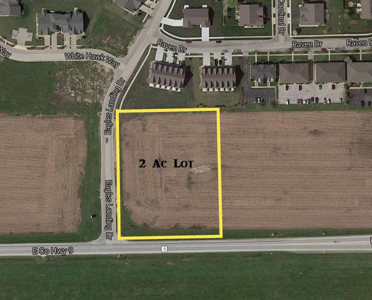 Aerial Map of 2 Acre Commercial Lot