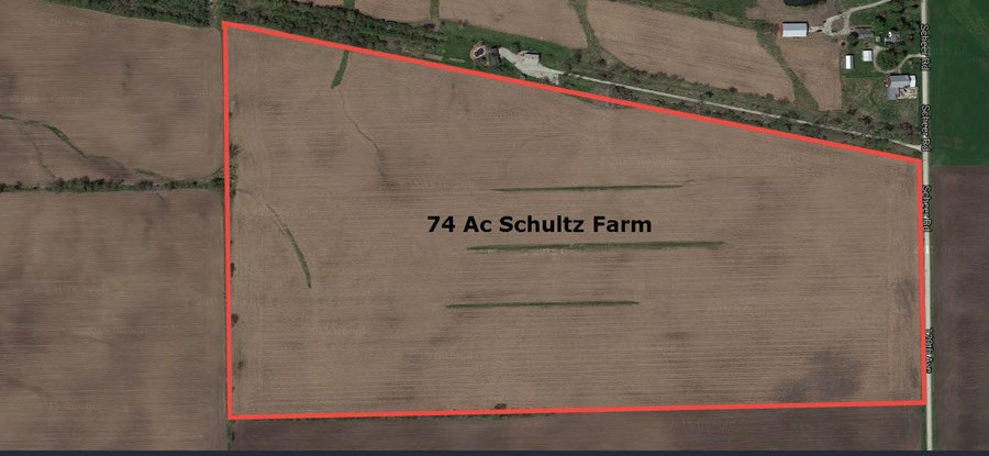 Aerial Map of Schultz farm