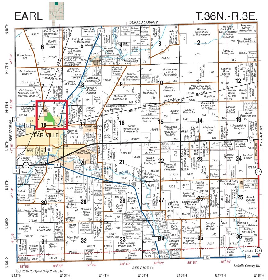 Earl Township Plat Map