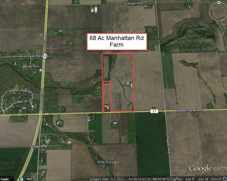 Aerial Map 2 of Manhattan road 68 acres