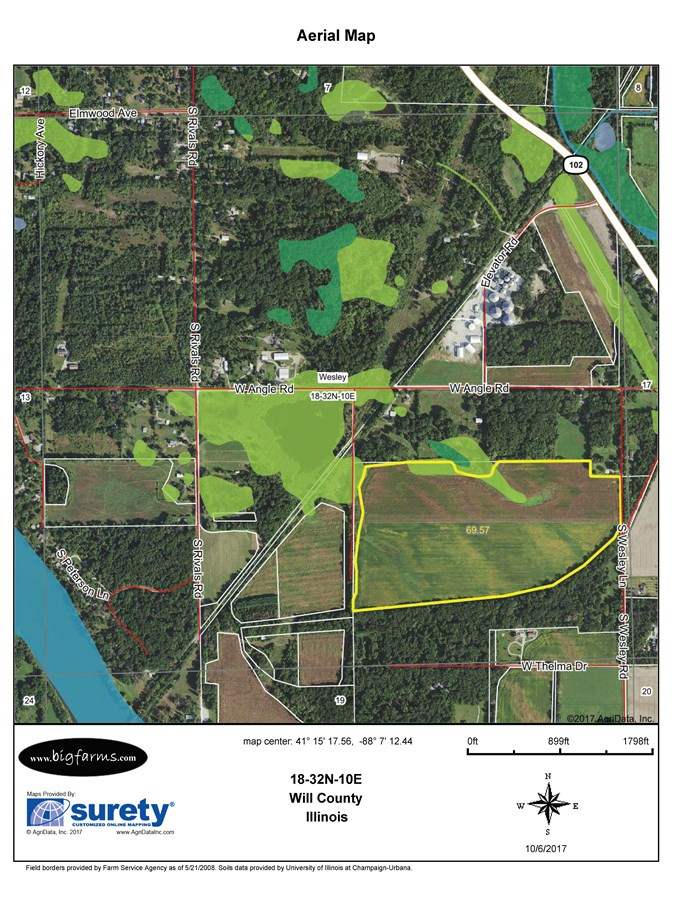 FSA Map of 74 acre Wesley Township
