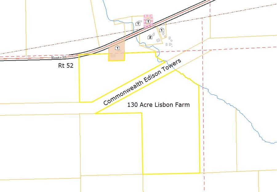 Tax Map of the 130 acre Lisbon Farm, Kendall County
