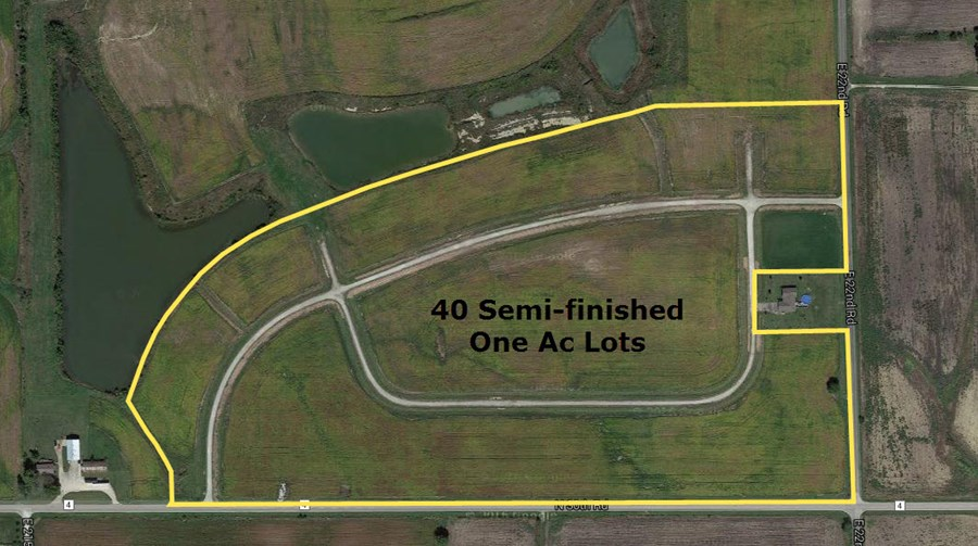 Semi-Finished Platted Lots of Meadow Lake Estates, Rutland Township, LaSalle County