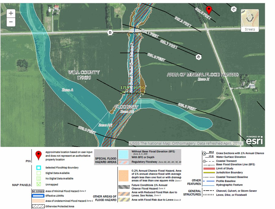 Flood Map of Wilton Township 75 Acres