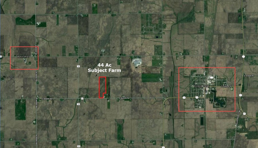 General location of 44 Acres in Sumner Township