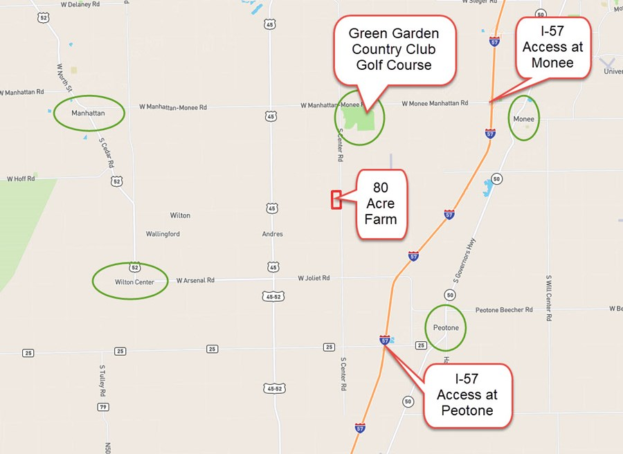 Location map of 80 Ac Center Rd in Green Garden Township