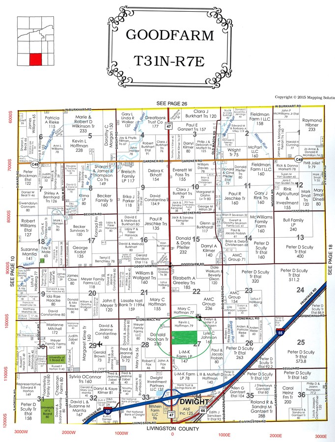 Plat Map of 77 Acre Goodfarm Township, Grundy County