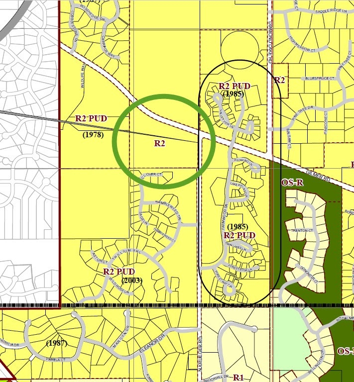 Zoning Map for 28 acres in Long Grove, IL