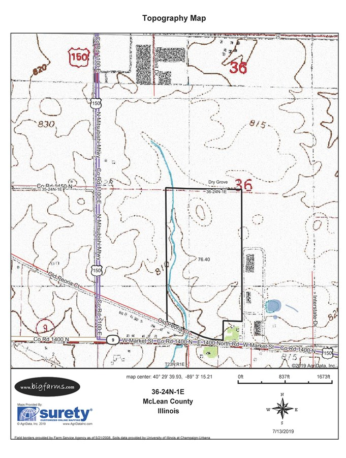 Topographical  Map 77 Acres