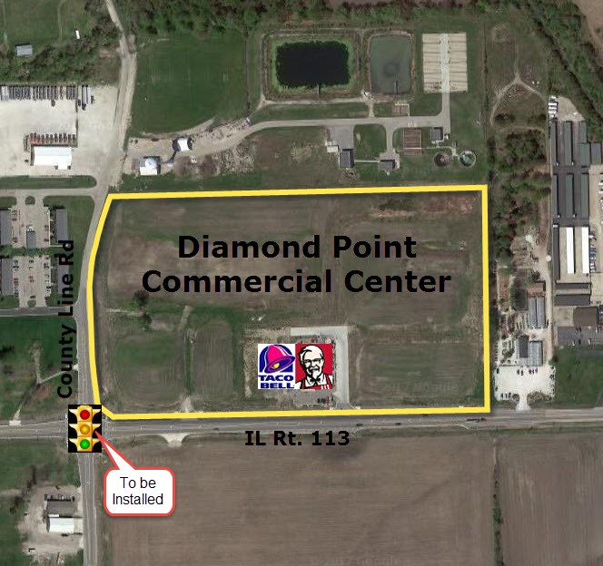 Diamond Point Commercial Center Aerial View