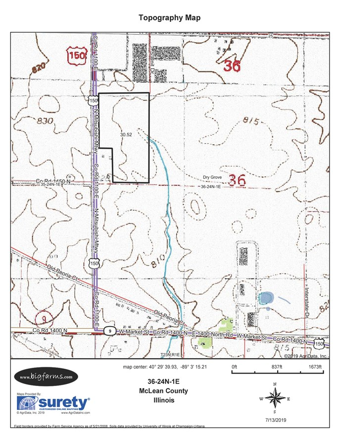 30 Ac Topographical Map