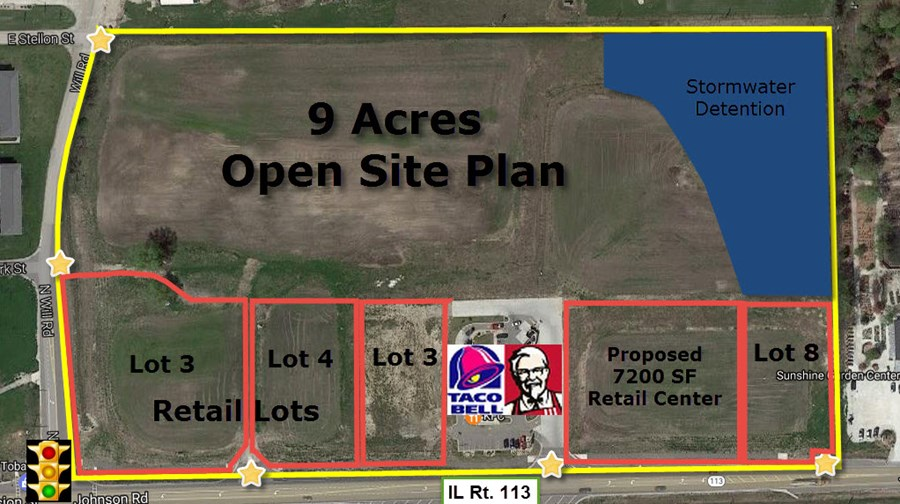 Aerial of Diamond Point Concept Site Plan