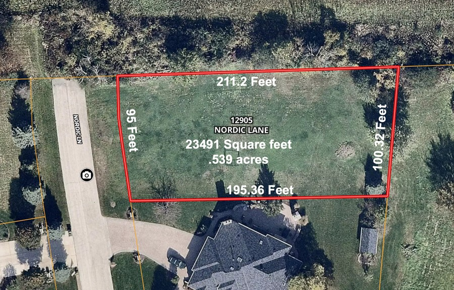 12905 Nordic Lane Lot Dimensions Fox Hill Estates Lemont Township, Cook County