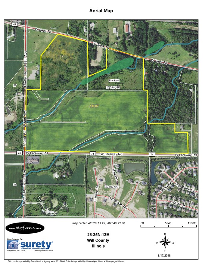 FSA Map of Frankfort 131 Acre Development Site