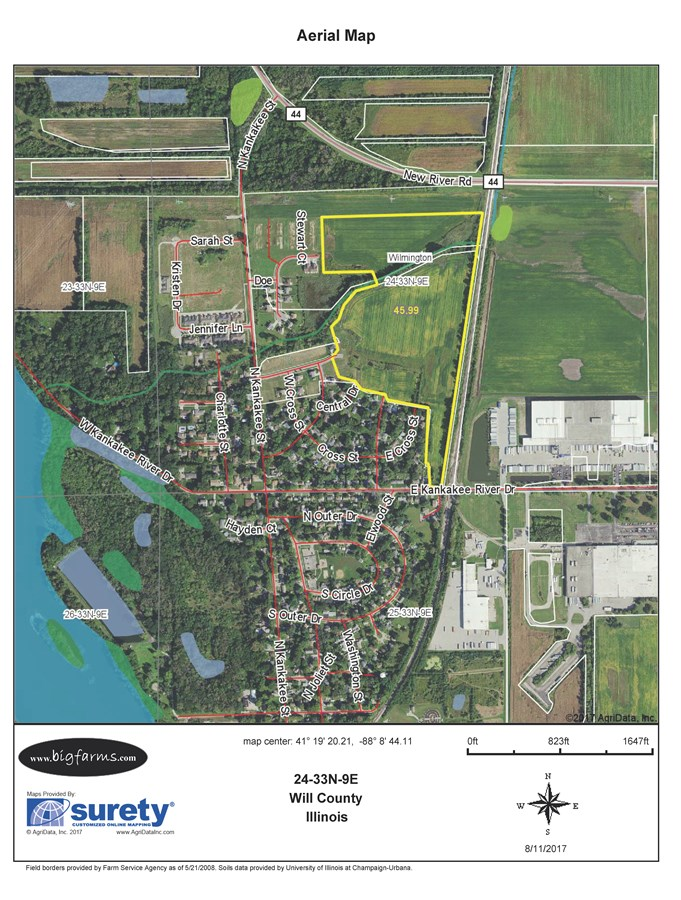 FSA Map of Wilmington Township 47 Acre Development Site