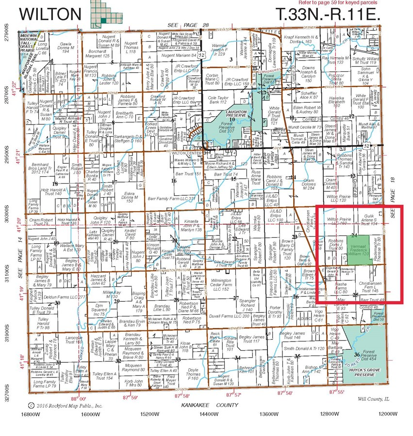 Plat Map of 110 Acres in Wilton Township