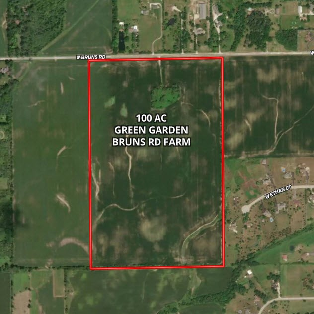 100 Acre Aerial Map in Green Garden Township, Will County