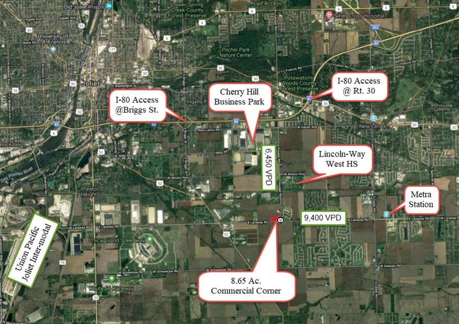 General Area Map for 8.65 acres in New Lenox, IL
