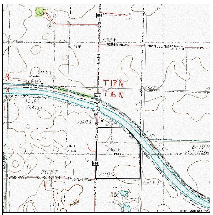 Topographical Map of 42 acres in Mineral Township, Burerau County
