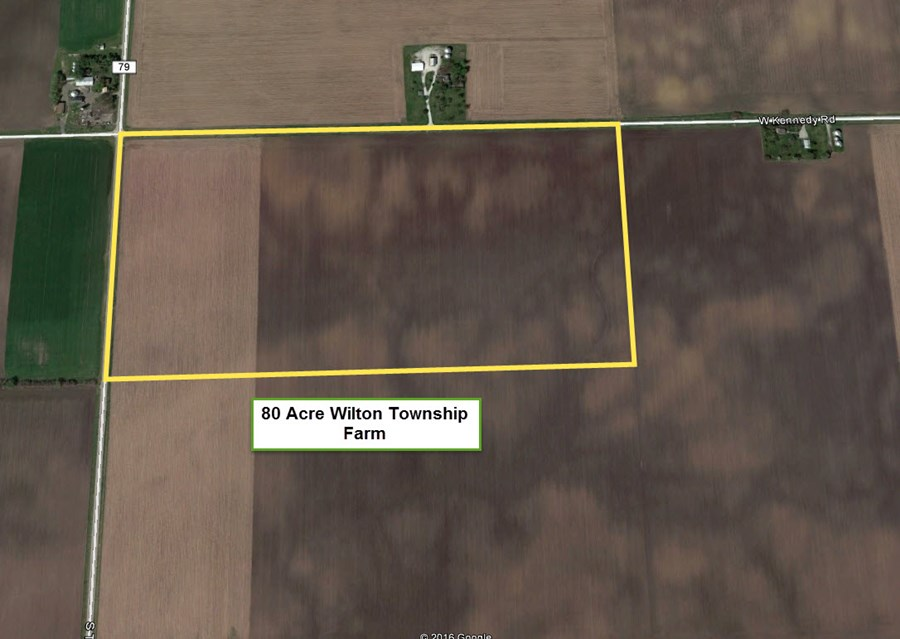 Map overview of Wilton Township 80 acres in Will County