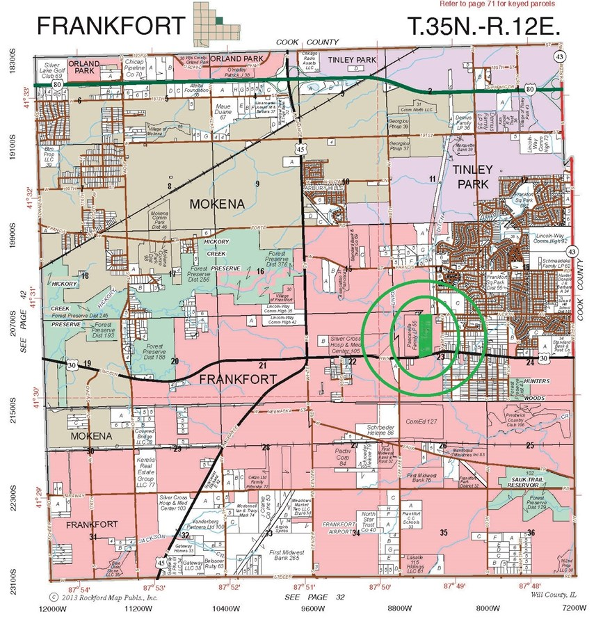 Plat Map of 37 acres Frankfort Township