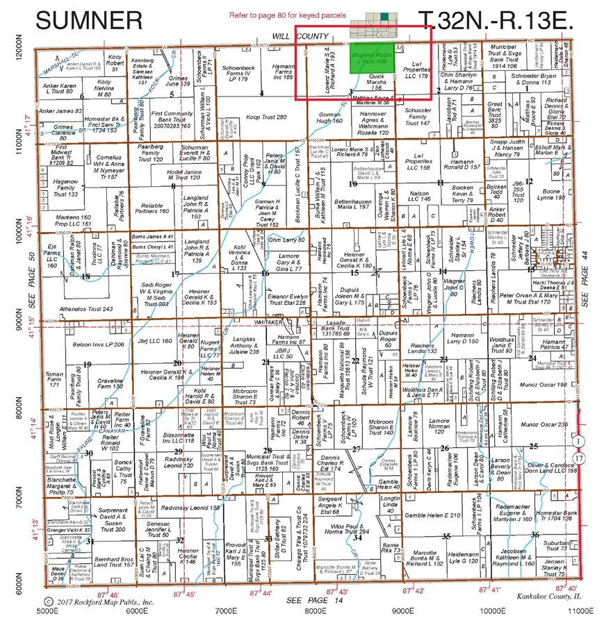 Plat Map of Sumner Township 106 acres
