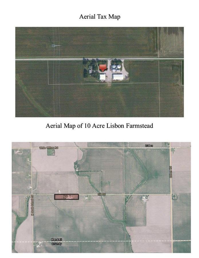 Aerial 2 10 acre Lisbon farmstead