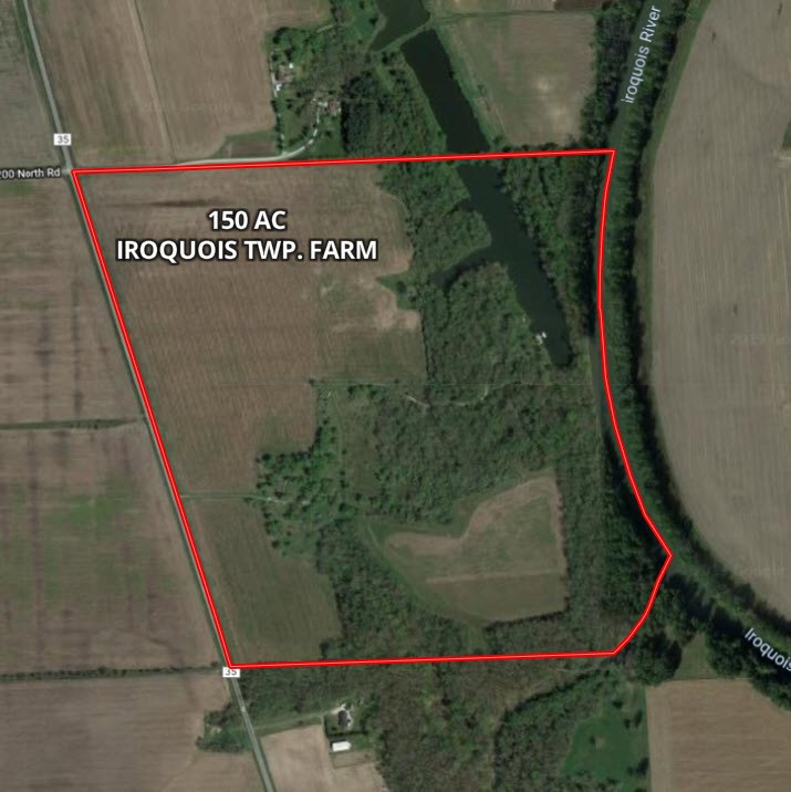 Aerial Map of 150 Acre Combo Farm