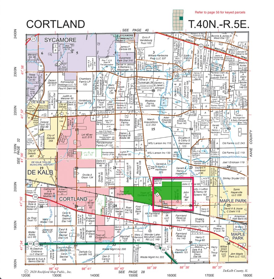 Plat Map 161.6 Parcel 4 Cortland Farms DeKalb County, IL